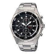 Casio® Mens Stainless Steel Chronograph Watch AMW330D-1AV