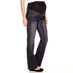 Maternity Overbelly Bootcut Jeans - Plus