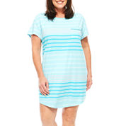 Liz Claiborne Jersey Short Sleeve Nightshirt-Plus