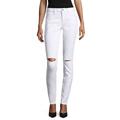 Arizona Slit Knee Skinny Jeans - Juniors