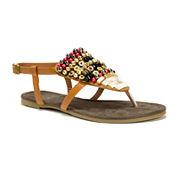 Muk Luks® Harlow Beaded Sandals