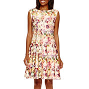 Danny & Nicole® Sleevless Floral Fit-and-Flare Dress