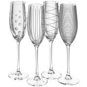 Mikasa® Cheers Set of 4 Champagne Flutes