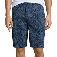 St. John's Bay® Flat Front Print Shorts
