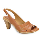 softspots® Neima Leather Slingback Pumps - Extra Wide