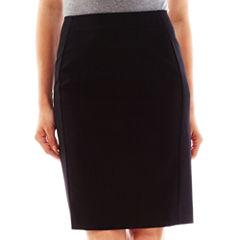 Worthington® Modern Seamed Pencil Skirt - Petite