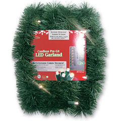 18' Pre-Lit Battery Operated Sparkling Artificial Christmas Garl& with Warm White LED Lights