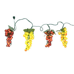 Tuscan Winery Green & Purple Grape Novelty Light Set - 4 Clusters 100 Lights