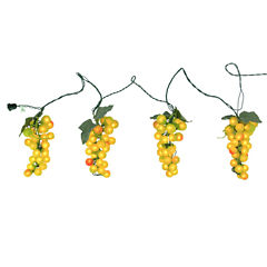 Tuscan Winery Green Grape Novelty Light Set - 4 Clusters 100 Lights