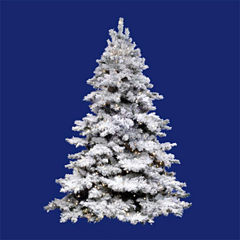 12' Pre-Lit Flocked Alaskan Artificial Christmas Tree - Clear Dura Lights