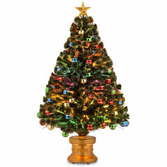 National Tree Co. 4 Foot Glitter-Balls Ornament Pre-Lit Christmas Tree