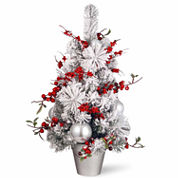 National Tree Co 2 Feet Red & White Ornaments Christmas Tree