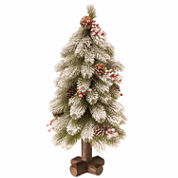 National Tree Co. 2 Feet Snowy Bayberry Spruce Christmas Tree