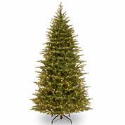 National Tree Co 7 1/2 Feet Nordice Spruce Slim Hinged Pre-Lit Christmas Tree
