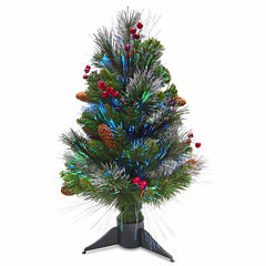 National Tree Co. 2 Foot Ice Crestwood Pre-Lit Christmas Tree