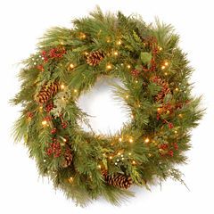 National Tree Co. White Pine Indoor/Outdoor Christmas Wreath