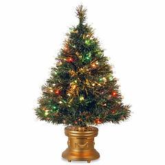 National Tree Co. 3 Foot Ice Revolving-Led Base Pre-Lit Christmas Tree