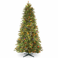 National Tree Co. 6 1/2 Foot Tiffany Fir Slim Memory-Shape Pre-Lit Christmas Tree