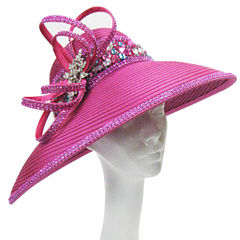 Whittall & Shon Derby Hat Teardrop Brim With Beaded Band