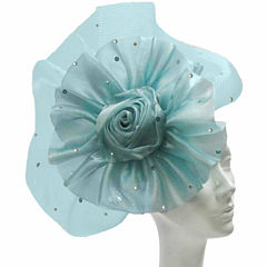 Whittall & Shon Derby Hat Fascinator W Flower And Fan