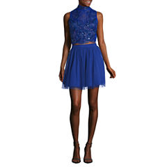 Love Reigns Sleeveless Party Dress-Juniors