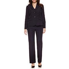 Le Suit Long Sleeve 2-Button Striped Pant Suit