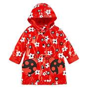 Pink Platinum Girls Ladybug Raincoat-Toddler