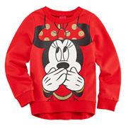 Disney Minnie Mouse Long Sleeve Sweatshirt - Big Kid