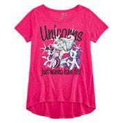 My Little Pony Short Sleeve My Little Pony T-Shirt-Big Kid Girls