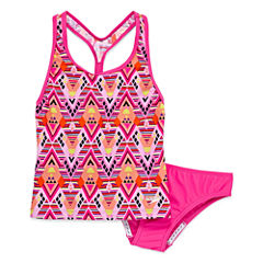 Speedo Girls Solid Tankini Set - Big Kid