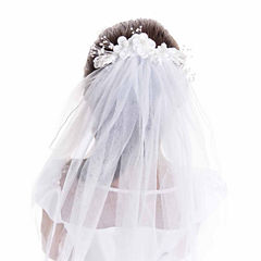 Keepsake Floral Comb Communion Veil