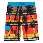 Arizona Boys Palm Swim Trunks-Big Kid