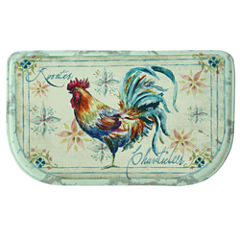 Bacova Guild Watercolor Rooster Wedge Kitchen Mat
