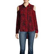 A.N.A Tab Modern Fit Long Sleeve Print Button-Front Shirt
