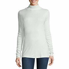 Stylus Long Sleeve Turtleneck T-Shirt-Womens