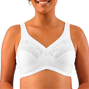 Glamorise® Satin and Lace Minimizer Bra - 1003