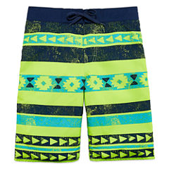 Arizona Boys Pattern Trunks-Big Kid