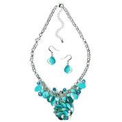 Mixit Womens 2-pc. Blue Jewelry Set