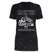 Led Zeppelin Burnout T-Shirt- Juniors