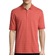 Haggar® Short Sleeve Printed Woven Polo