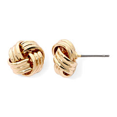 Monet® Gold-Tone Love Knot Earrings