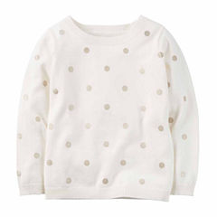 Carter's Crew Neck Long Sleeve Pullover Sweater - Toddler