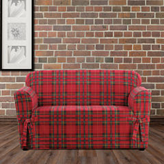 SURE FIT® Highland Plaid 1PC Slipcover Loveseat