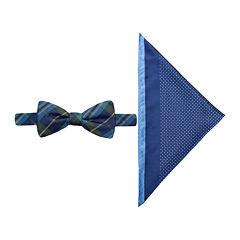 JF J. Ferrar® Charleston Tartan Pre-Tied Bow Tie & Pocket Square Set