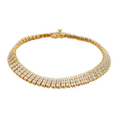 Diamond-Accent Multi-Row Tennis Bracelet