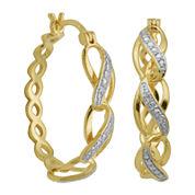 Diamond-Accent Infinity-Link Hoop Earrings