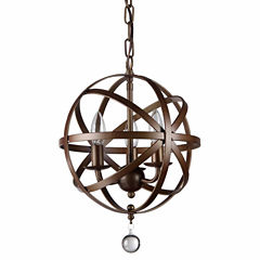 Warehouse Of Tiffany Riza 3-light Antique Bronze 12-inch Crystal Chandelier
