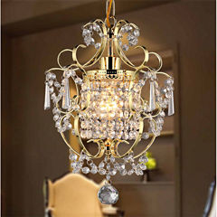 Warehouse Of Tiffany Emily 1-light Gold 11-inch Crystal Chandelier