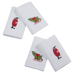 Tree Tidings 4-pc Embroidered Hand Towel Set