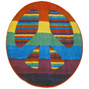 Peace Round Accent Rug